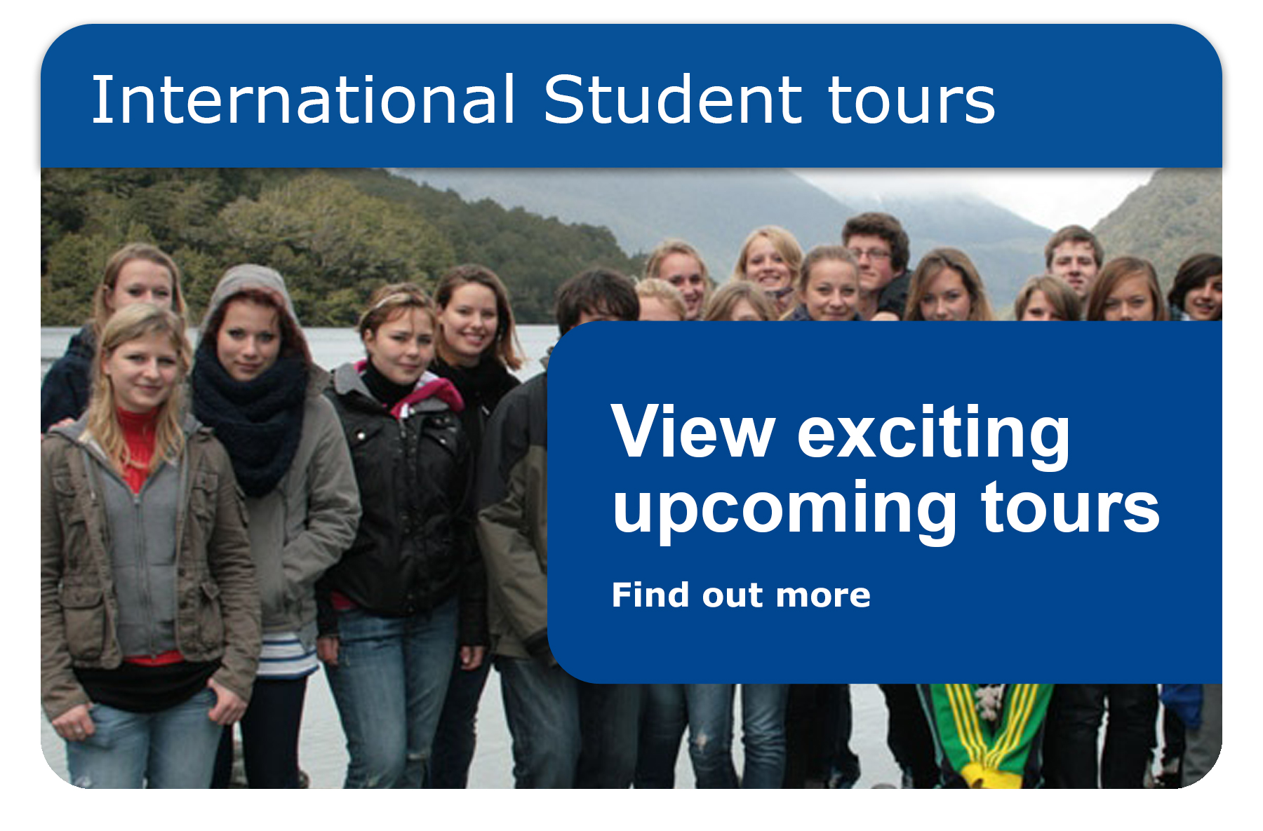 International student tours - South & North Island