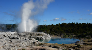 School field trip for Geothermal chemistry. Te Puia Rotorua, New Zealand.