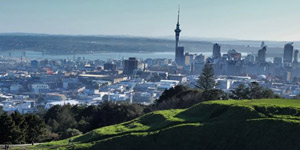 Auckland views from Mount Eden