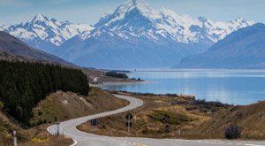 One of the most photographed roads in New Zealand - Mt Cook