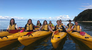 Kayaking the abel tasman on this beautiful day with Learning Journeys