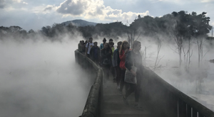 Kuirau Park, Rotorua. Student tour to for Geothermal Chemistry and/or Geography with Learning Journeys.