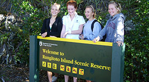 Rangitoto Island school trip for inquiry study. Auckland, New Zealand.