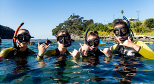 Biodiversity marine study. Snorkeling with Learning Journeys during school trip.